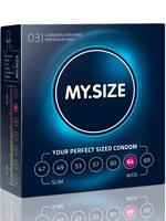 3 x MY.SIZE Condoms - Size 64
