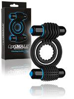 OptiMALE - Vibrating Double C-Ring - Schwarz